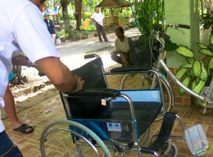 13th Donation of wheel chair