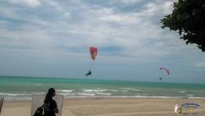 Paramotorsover nadan Beach