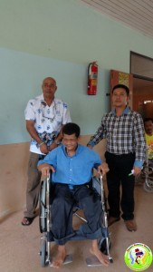 3rd May Donation of Wheel chair and cloths-13
