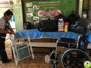 3rd May Donation of Wheel chair and cloths-6