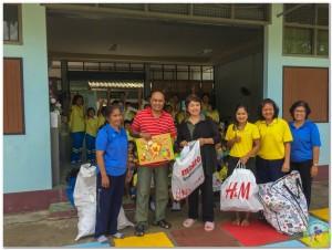 Donation to Wat Vhedi Luang School 14th Nov-13