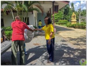 Donation to Wat Vhedi Luang School 14th Nov