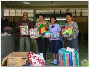 Donation to JD Luang School